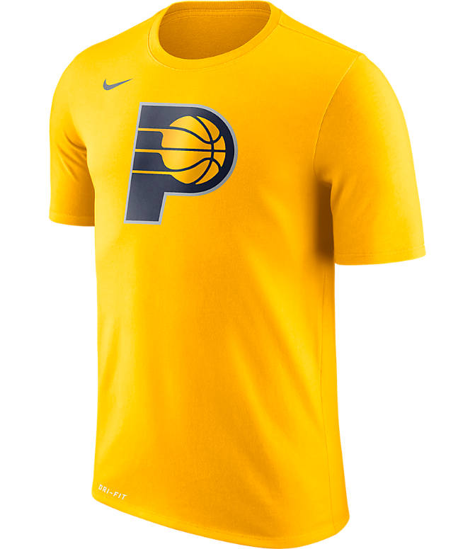 Front view of Men's Nike Indiana Pacers NBA Logo T-Shirt in Amarillo