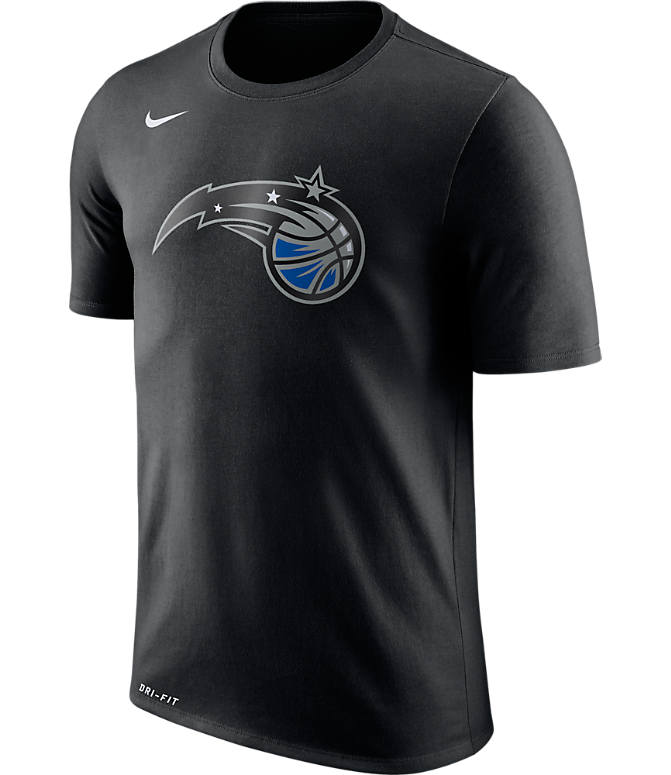 Front view of Men's Nike Orlando Magic NBA Logo T-Shirt in Black