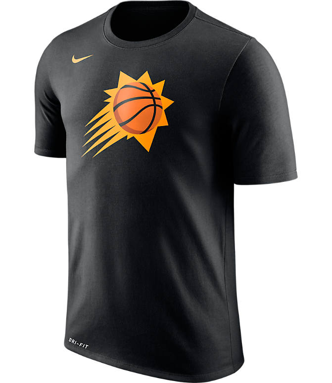 Front view of Men's Nike Phoenix Suns NBA Logo T-Shirt in Black