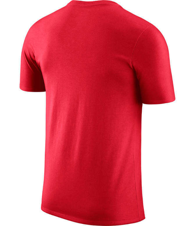 Back view of Men's Nike Portland Trail Blazers NBA Logo T-Shirt in University Red