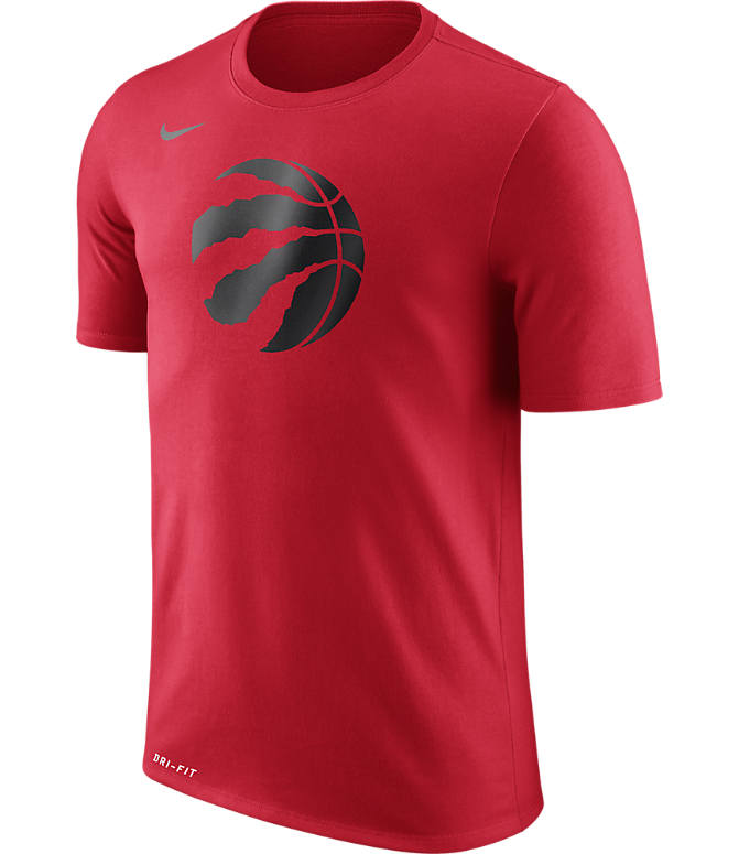 Front view of Men's Nike Toronto Raptors NBA Logo T-Shirt in University Red