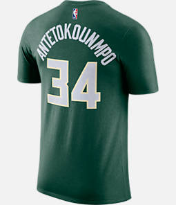 Men's Nike Milwaukee Bucks NBA Giannis Antetokounmpo Name and Number T-Shirt