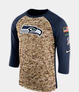Men's Nike Seattle Seahawks NFL Salute to Service Raglan T-Shirt