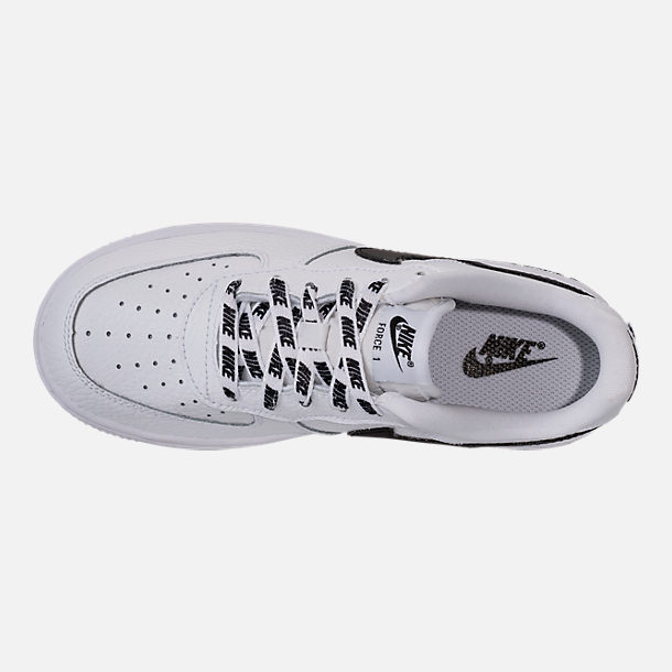 Top view of Boys' Preschool Nike NBA Force 1 Low LV8 Casual Shoes in White/Black