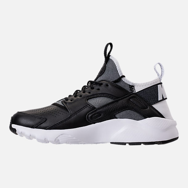 Left view of Men's Nike Air Huarache Run Ultra SE Casual Shoes in Black/Black/White