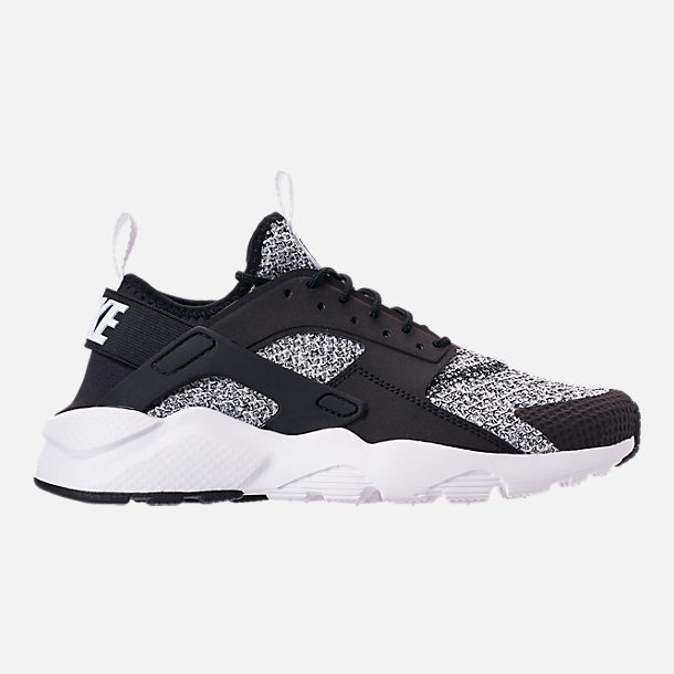 Right view of Men's Nike Air Huarache Run Ultra SE Casual Shoes in Black/White