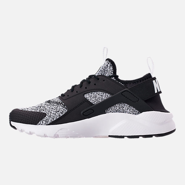 Left view of Men's Nike Air Huarache Run Ultra SE Casual Shoes in Black/White