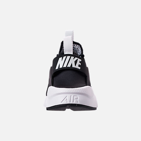 Back view of Men's Nike Air Huarache Run Ultra SE Casual Shoes in Black/White