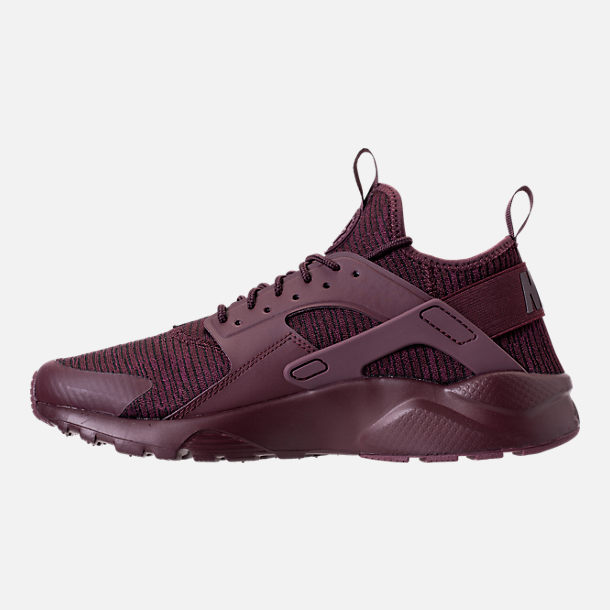Left view of Men's Nike Air Huarache Run Ultra SE Casual Shoes in Deep Burgundy/