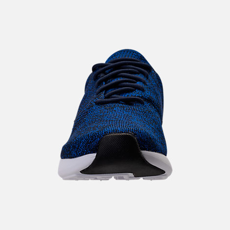 Front view of Men's Nike Air Max Modern Flyknit Running Shoes in College Navy/Black
