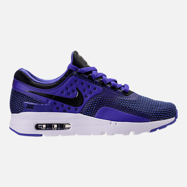 Right view of Men's Nike Air Max Zero Running Shoes in Black/Paramount Blue/