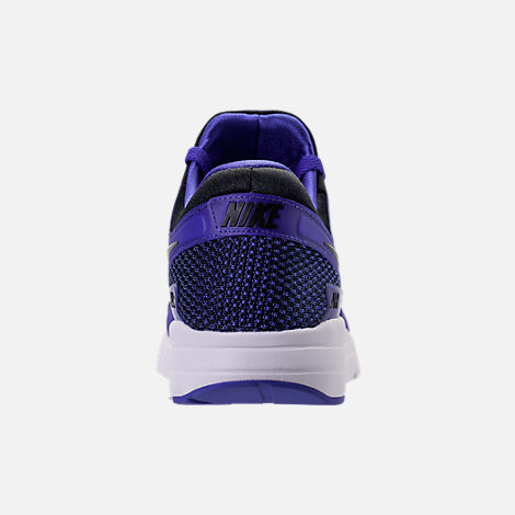 Back view of Men's Nike Air Max Zero Running Shoes in Black/Paramount Blue/