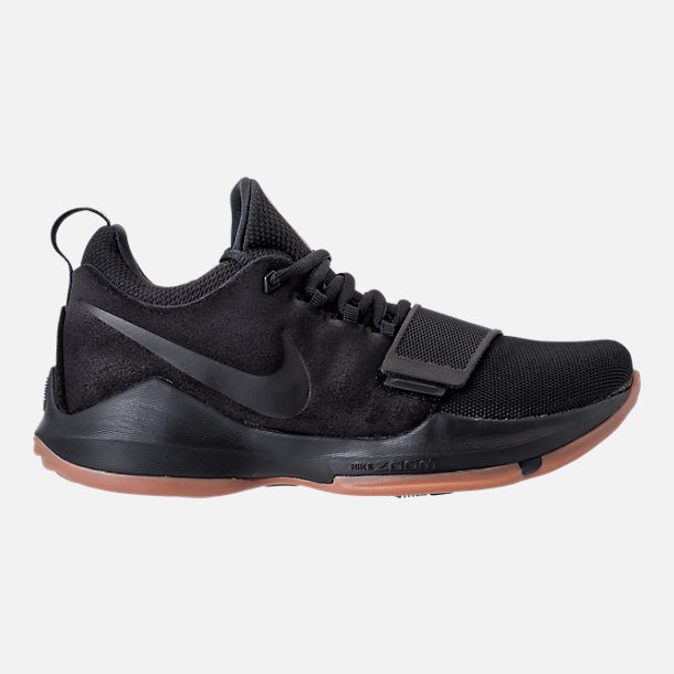Right view of Men's Nike PG 1 Basketball Shoes in Black/Black/Anthracite