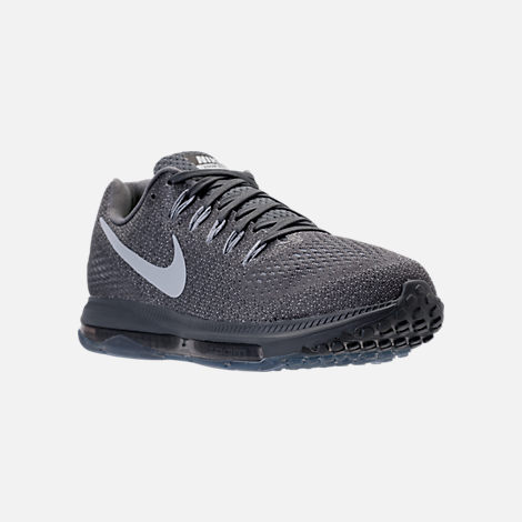 Three Quarter view of Men's Nike Zoom All Out Low Running Shoes in Pure Platinum/Cool Grey/Wolf Grey