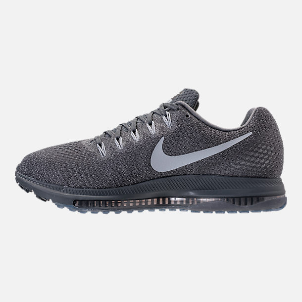 Left view of Men's Nike Zoom All Out Low Running Shoes in Pure Platinum/Cool Grey/Wolf Grey