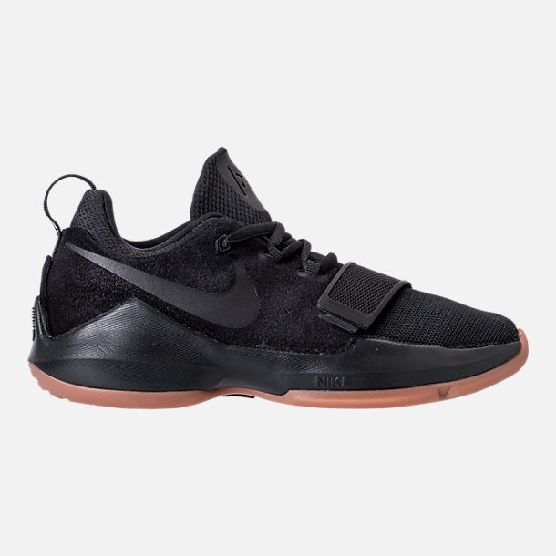 Right View Of Boys Grade School Nike Pg 1 Basketball Shoes In Black Anthracite