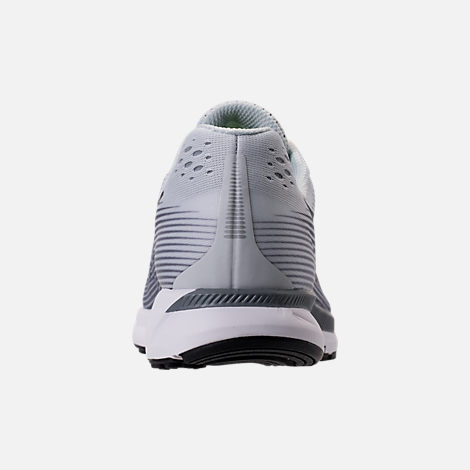Back view of Women's Nike Air Zoom Pegasus 34 Running Shoes in Pure Platinum/Anthracite/Cool Grey
