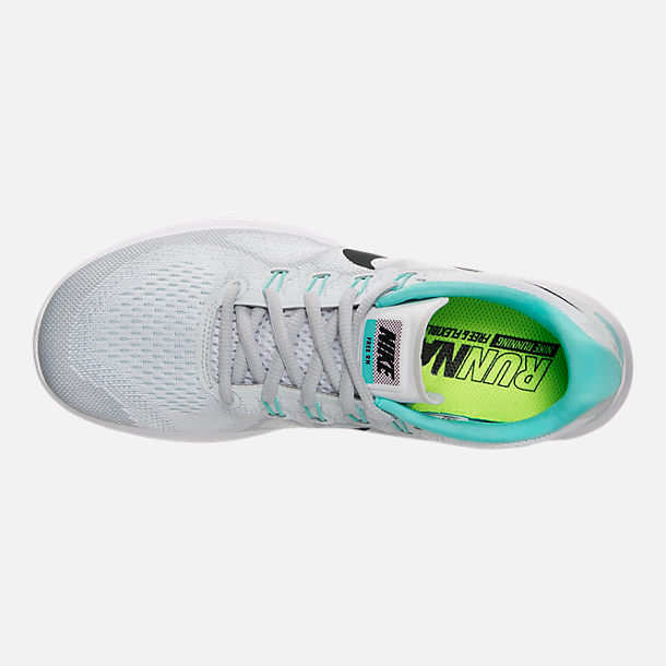 Top view of Women's Nike Free RN 2017 Running Shoes in White/Anthracite/Pure Platinum/Aurora