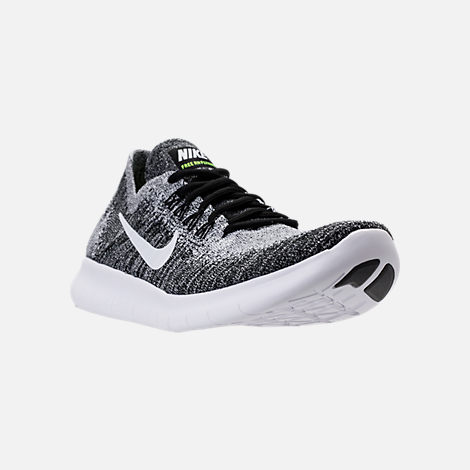 Three Quarter view of Men's Nike Free RN Flyknit 2017 Running Shoes