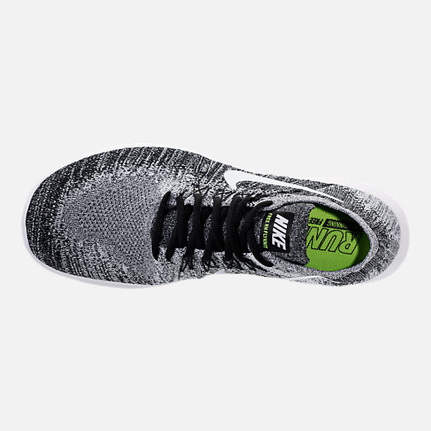 Top view of Men's Nike Free RN Flyknit 2017 Running Shoes