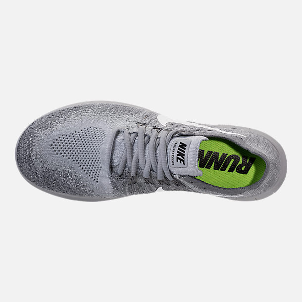 Top view of Women's Nike Free RN Flyknit 2017 Running Shoes