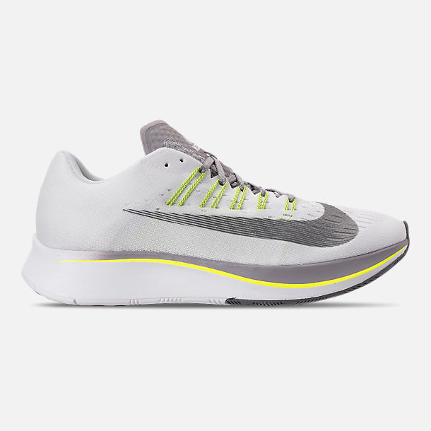 9d4890a2b19 Right view of Men s Nike Zoom Fly Running Shoes in White Black Bright  Crimson
