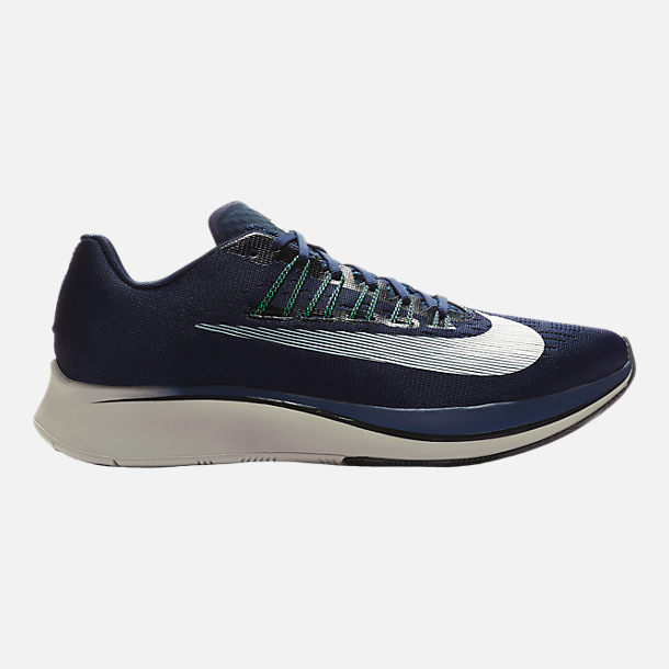 Right view of Mens Nike Zoom Fly Running Shoes in ObsidianWhiteNeutral  Indigo