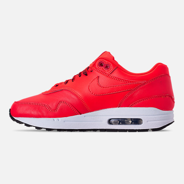 Left view of Women's Nike Air Max 1 SE Running Shoes in Bright Crimson/Black/White
