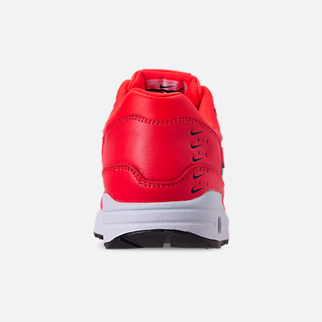 Back view of Women's Nike Air Max 1 SE Running Shoes in Bright Crimson/Black/White
