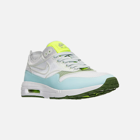 Three Quarter view of Women's Nike Air Max 1 Ultra 2.0 SI Casual Shoes in  White