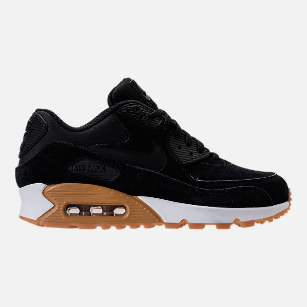 Right view of Women's Nike Air Max 90 SE Running Shoes in Black/Gum Medium Brown/Ivory