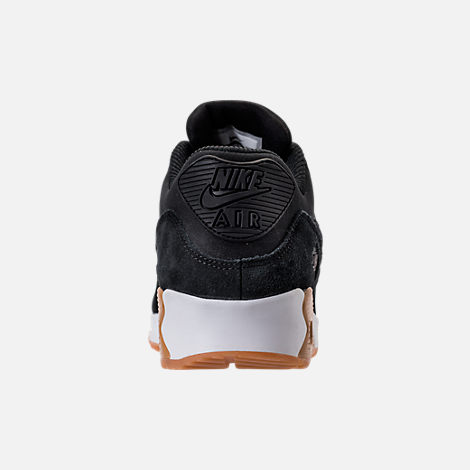 Back view of Women's Nike Air Max 90 SE Running Shoes in Black/Gum Medium Brown/Ivory