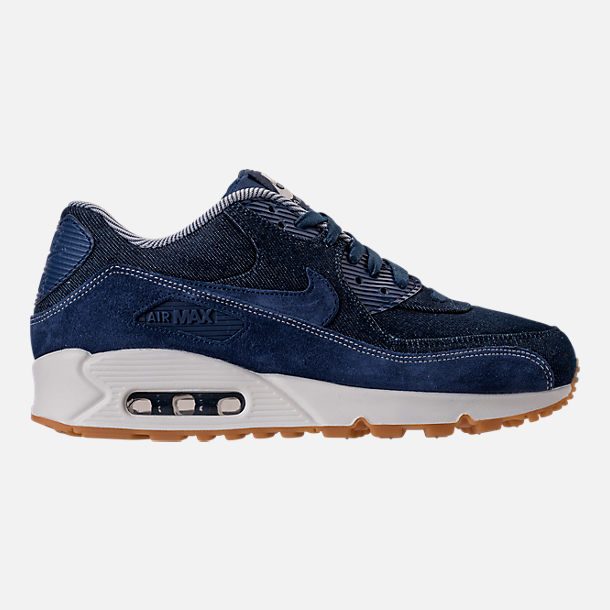 Right view of Women's Nike Air Max 90 SE Running Shoes in Binary Blue/Muslin/Sail