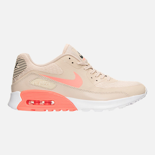Right view of Women's Nike Air Max 90 Ultra 2.0 Casual Shoes in Oatmeal/Lava