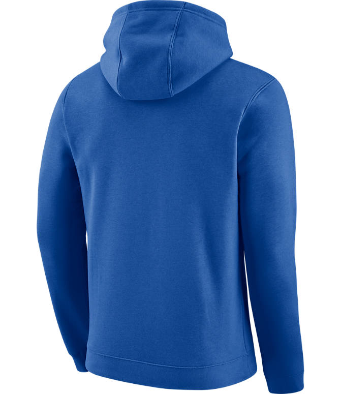 Back view of Men's Nike Dallas Mavericks NBA Club Logo Fleece Hoodie in Game Royal