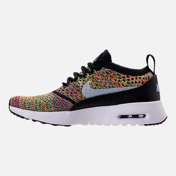 Left view of Women's Nike Air Max Thea Ultra Flyknit Casual Shoes in Burnt  Crimson/