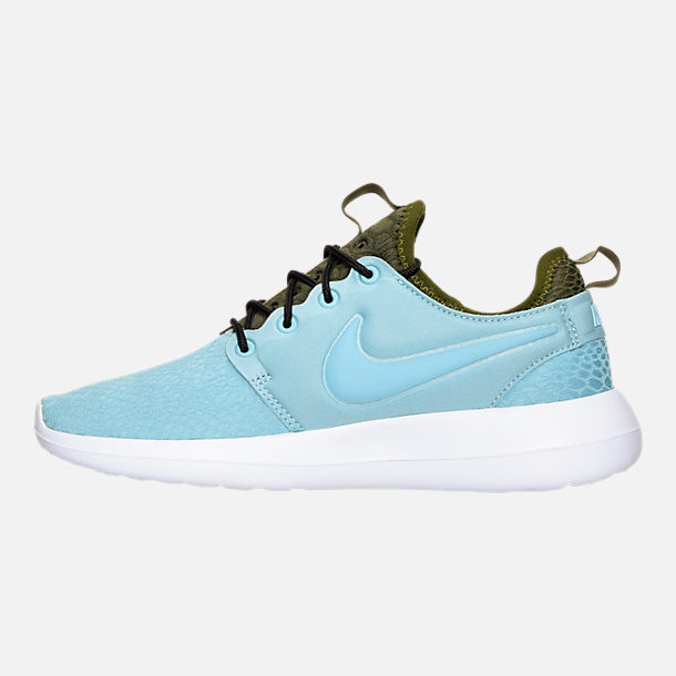 Left view of Women's Nike Roshe Two SE Casual Shoes in Mica Blue/Legion Green