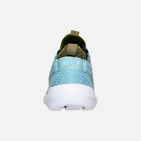 Back view of Women's Nike Roshe Two SE Casual Shoes in Mica Blue/Legion Green