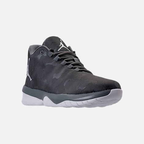 Three Quarter view of Men's Air Jordan B.Fly Basketball Shoes in Cool Grey/White
