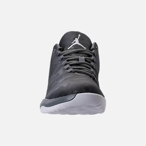 Front view of Men's Air Jordan B.Fly Basketball Shoes in Cool Grey/White