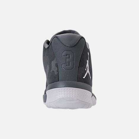 Back view of Men's Air Jordan B.Fly Basketball Shoes in Cool Grey/White