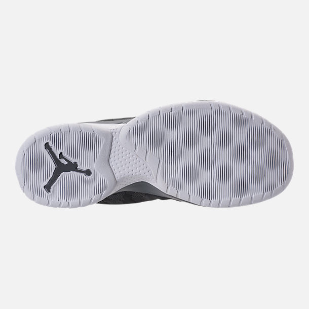 Bottom view of Men's Air Jordan B.Fly Basketball Shoes in Cool Grey/White