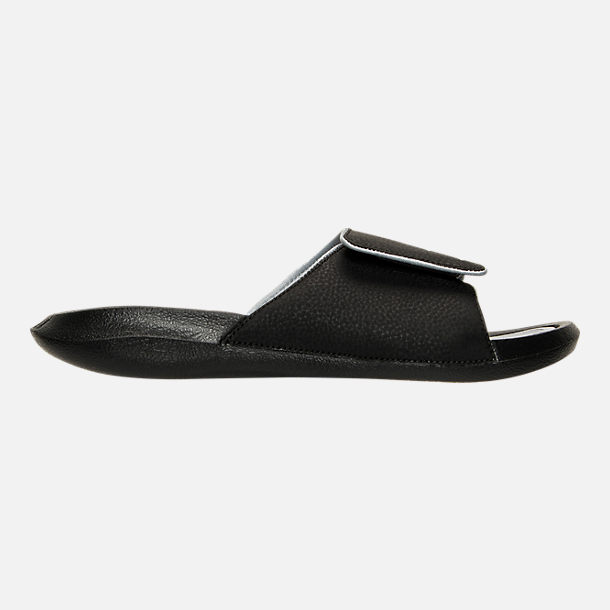 Right view of Men's Air Jordan Hyrdo 6 Slide Sandals in Black/White/Wolf Grey