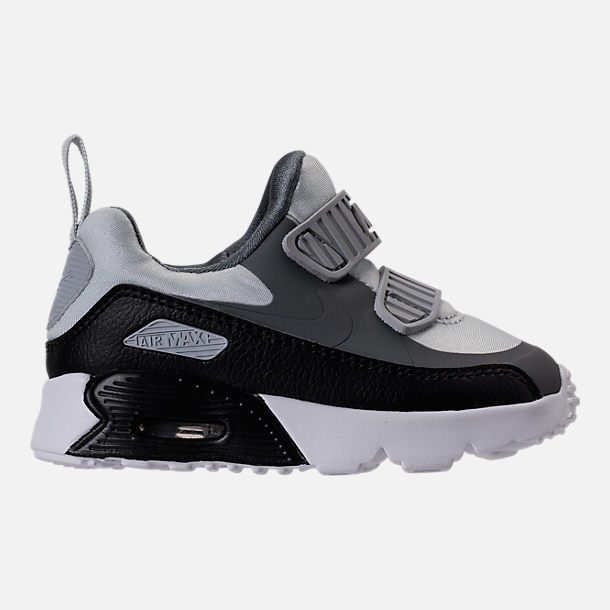 Right view of Boys' Toddler Nike Air Max Tiny 90 Running Shoes in Pure Platinum/Black/Cool Grey