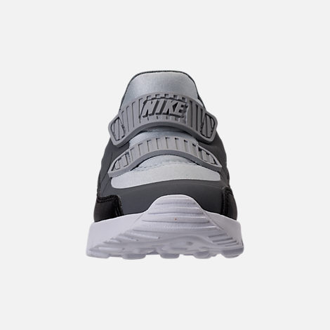 Front view of Boys' Toddler Nike Air Max Tiny 90 Running Shoes in Pure Platinum/Black/Cool Grey