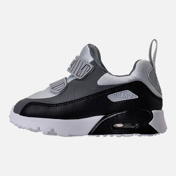 Left view of Boys' Toddler Nike Air Max Tiny 90 Running Shoes in Pure Platinum/Black/Cool Grey