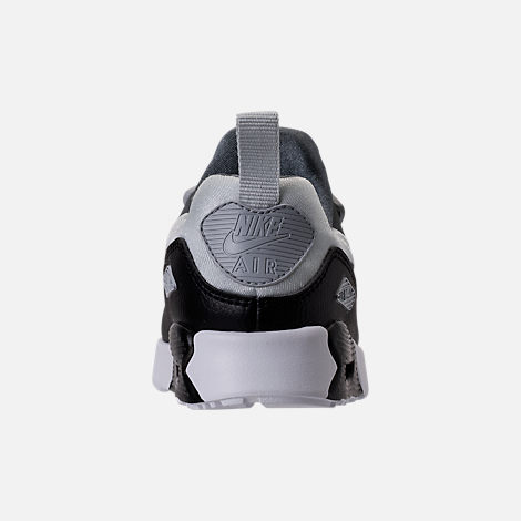 Back view of Boys' Toddler Nike Air Max Tiny 90 Running Shoes in Pure Platinum/Black/Cool Grey