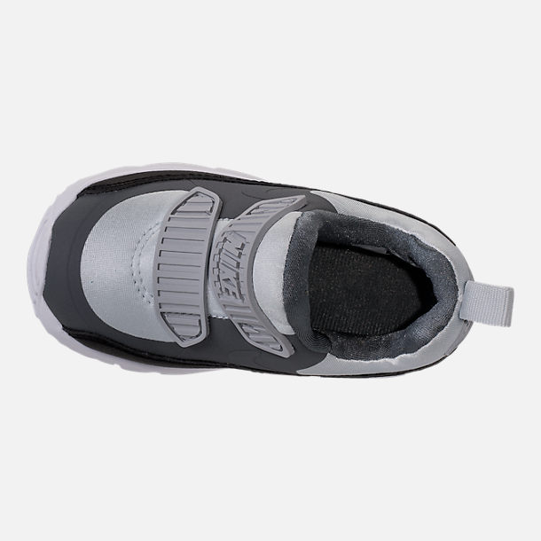 Top view of Boys' Toddler Nike Air Max Tiny 90 Running Shoes in Pure Platinum/Black/Cool Grey