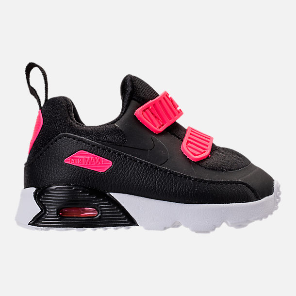 Right view of Girls' Toddler Nike Air Max Tiny 90 Running Shoes in Black/