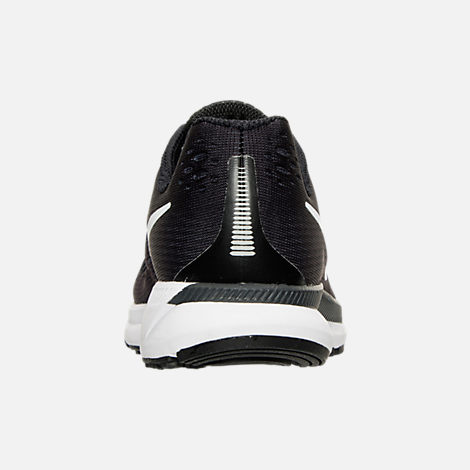Back view of Boys' Grade School Nike Zoom Pegasus 34 Running Shoes in Black/White/Dark Grey/Anthracite
